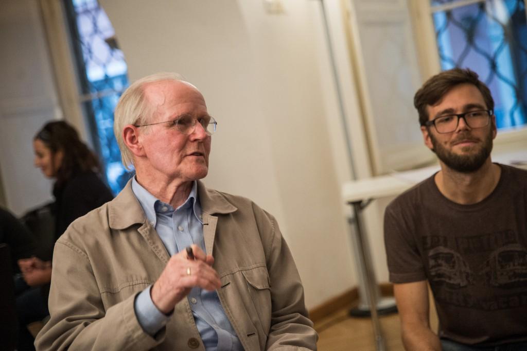 Foto von Siegfried Schrotta beim Workshops Demokratie Repair Cafe beim Elevate