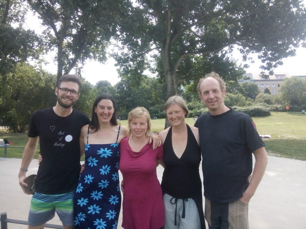 Gruppenfoto mit Marlene, Bettina, Florian, Boris Goldammer und Jutta Goldammer